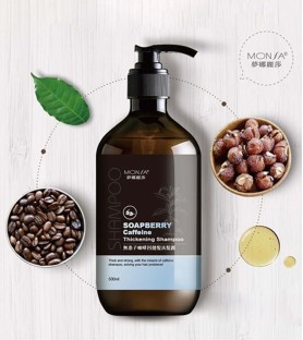 Monsa無患子咖啡因健髮洗髮露-咖啡香(500ml)