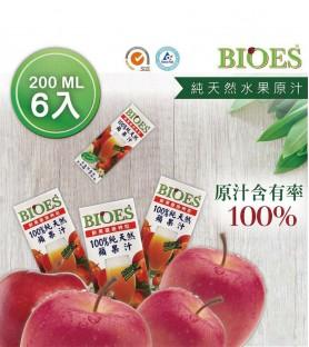 囍瑞-純天然 100% 蘋果汁原汁*6入(200ml)