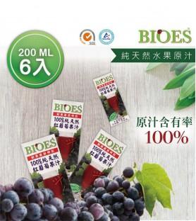 囍瑞-純天然 100% 葡萄汁原汁*6入(200ml)