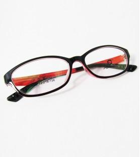 TR90-黑色紅腳(亮面)輕盈韓國技術設計眼鏡
