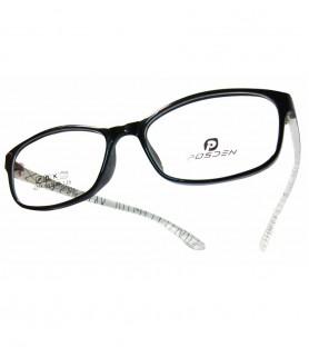 TR90-黑色斑馬腳(亮面)輕盈韓國技術設計眼鏡