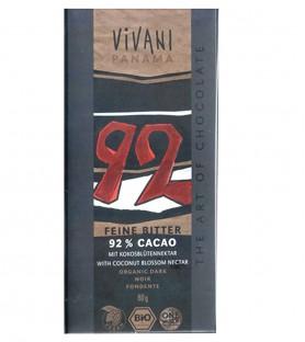 VIVANI有機純92%黑巧克力片
